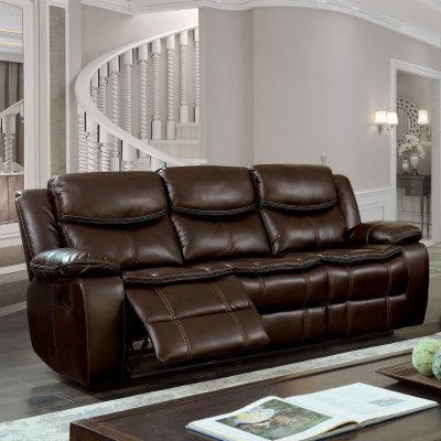 Furniture Of America Westfield Breathable Leatherette Sofa