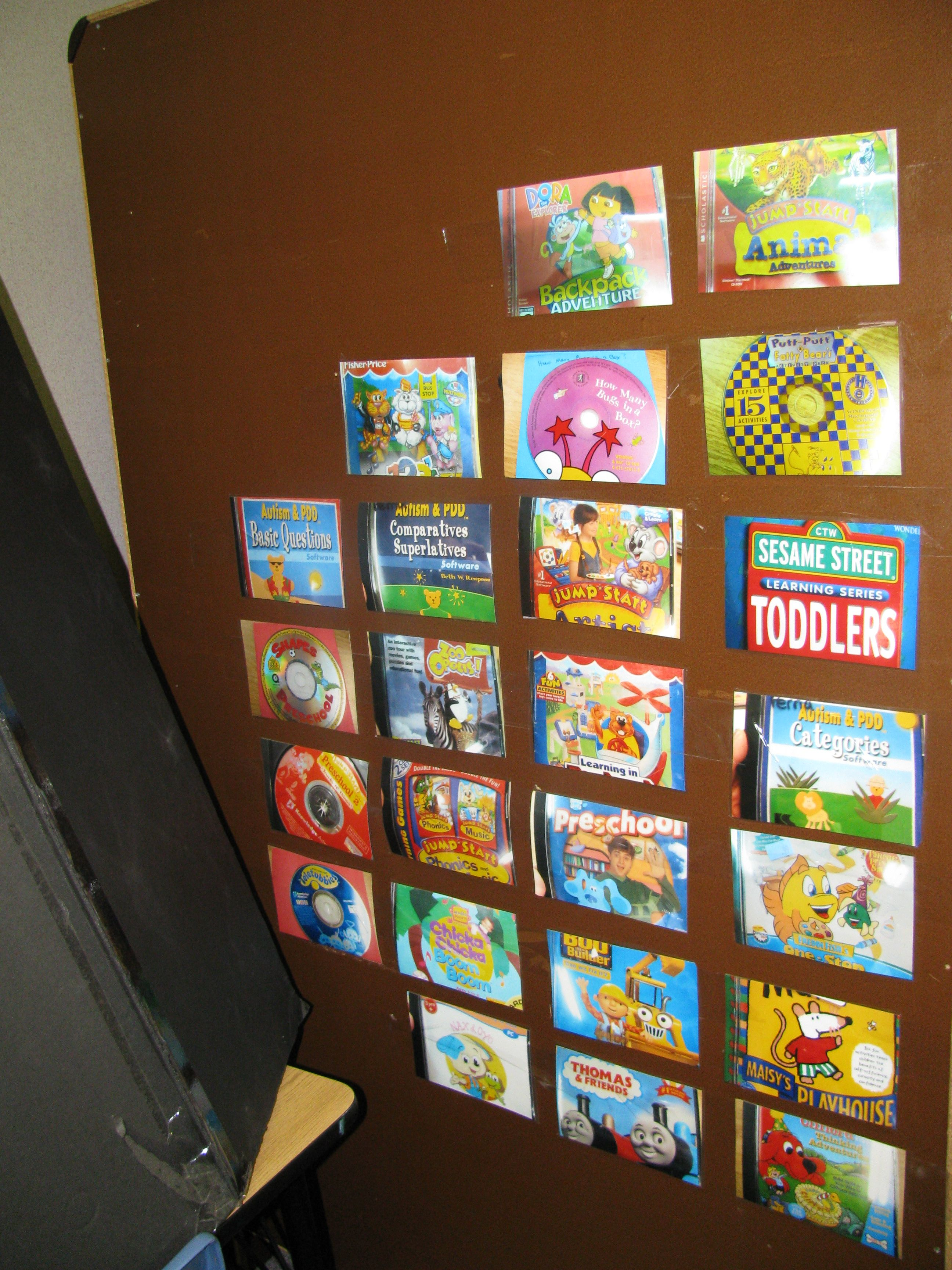 Preschool Computer Game Choices