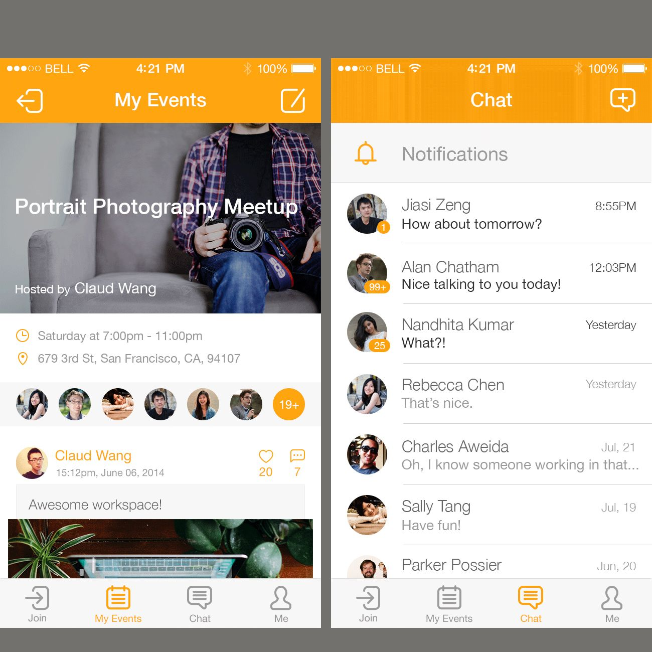 Event Chat App  #love #style #event #chat #startup #work