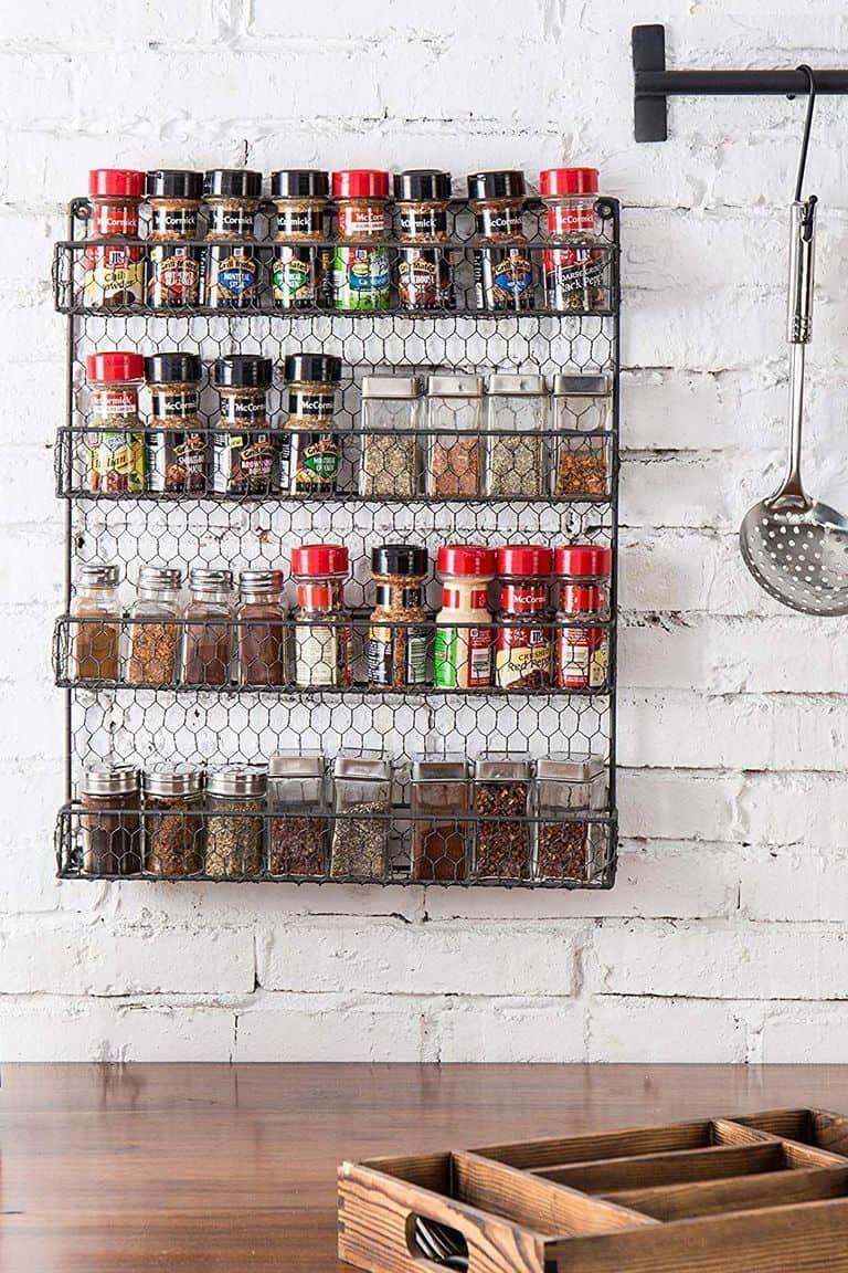 Farmhousestyle wire spice rack spicerack