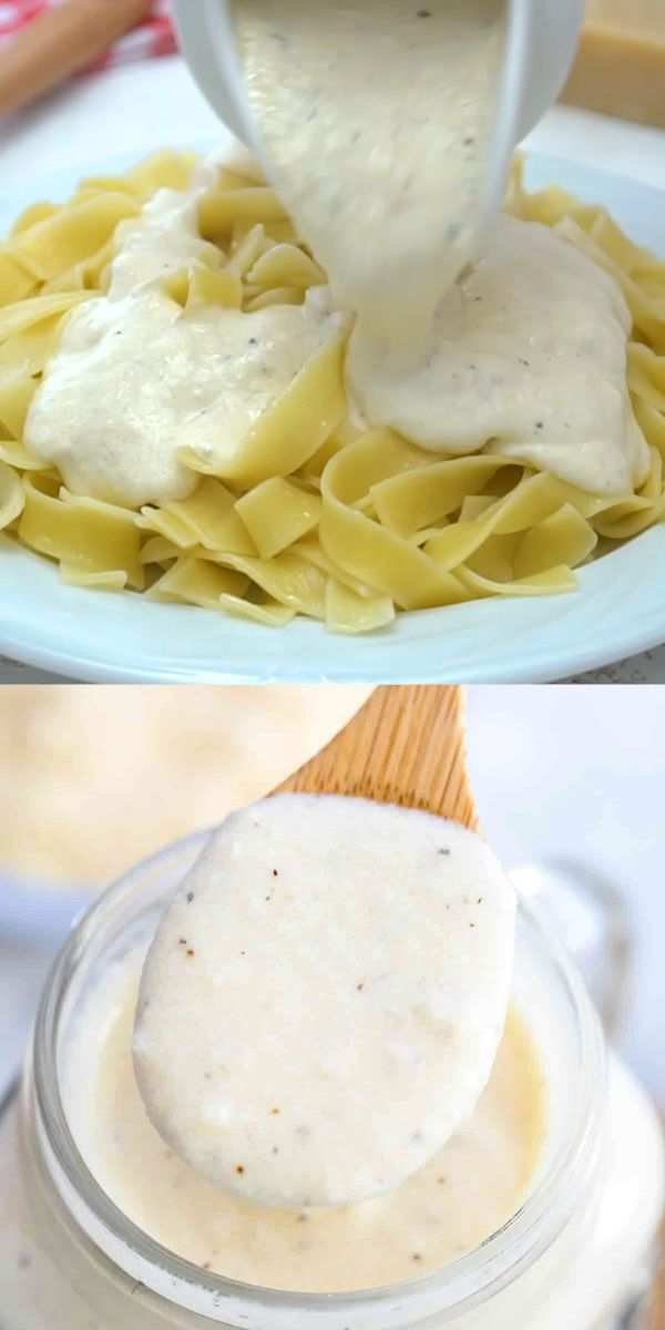 Best Homemade Creamy Alfredo Sauce. Recipe [Video] - Sweet and Savory Meals
