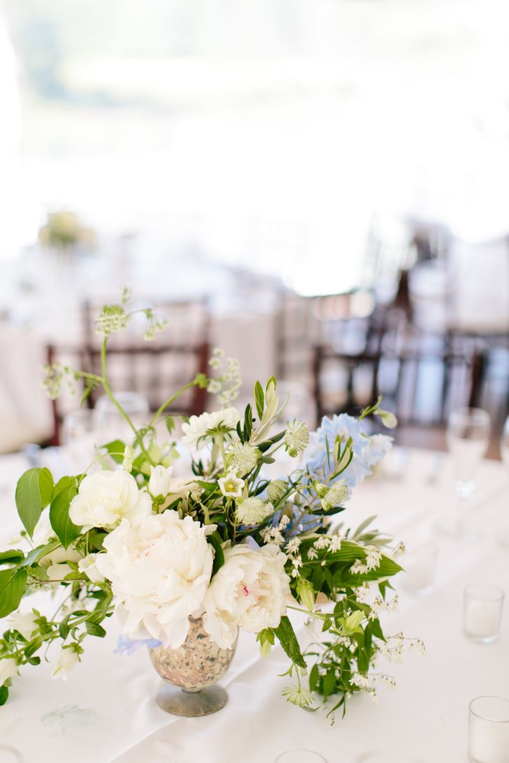 Textured peony and wildflower centerpieces | Centerpieces ...