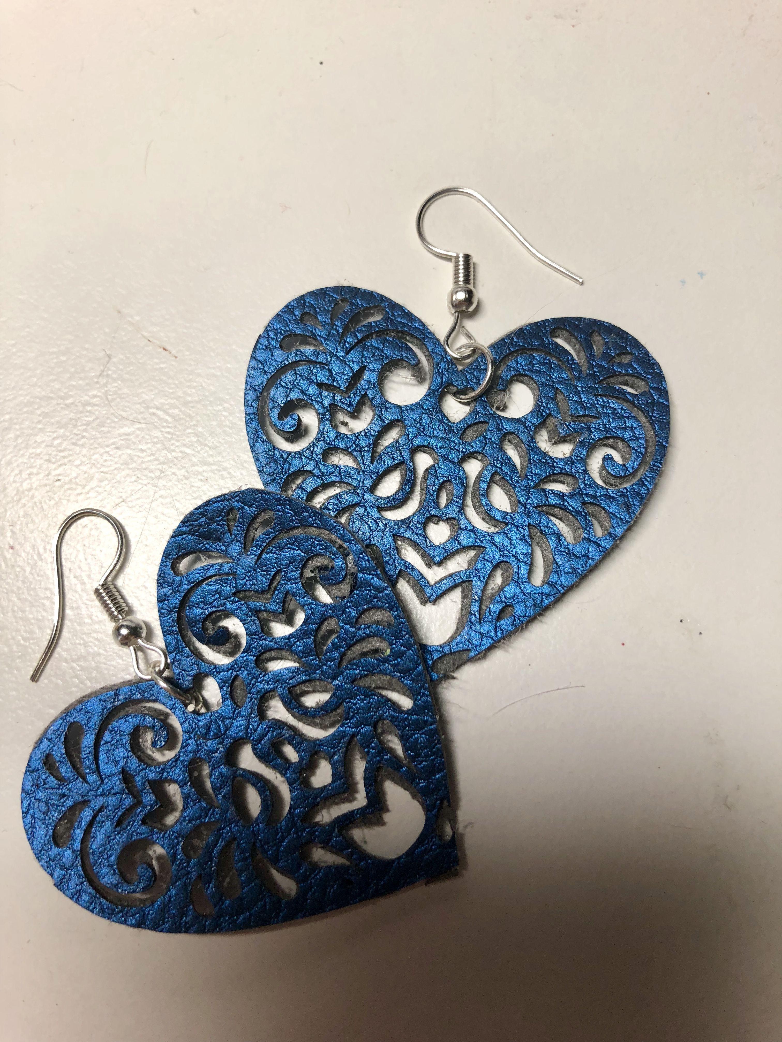 Pearl Heart Earrings Silver