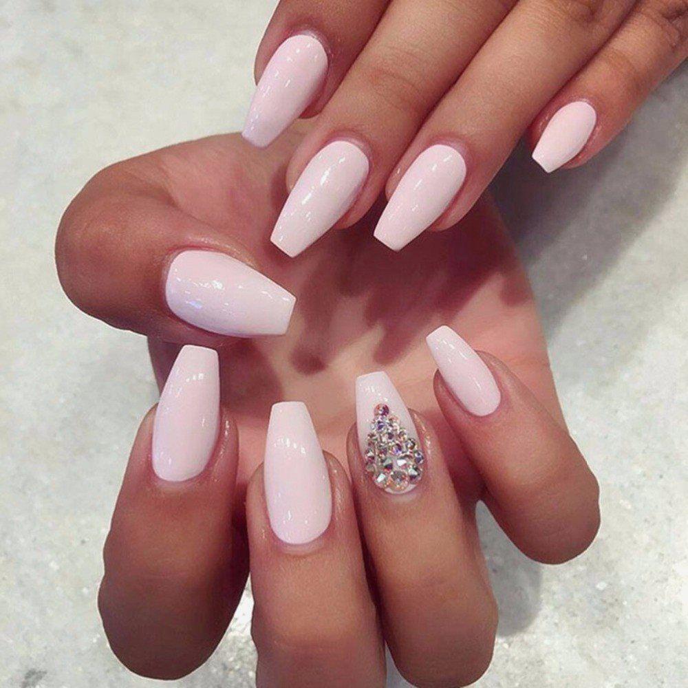 Schöne Coffin Nail Designs, die Sie ausprobieren möchten #nailsshape