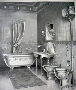 1899 Bathroom Illustration JL Mott Iron Works