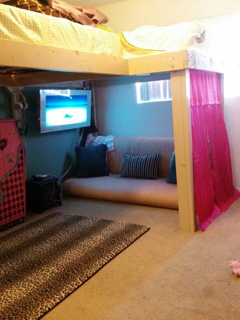 Full size L-shape loft beds   Cool rooms, Girl room ... on Teenager:_L_Breseofm= Bedroom Ideas  id=83568