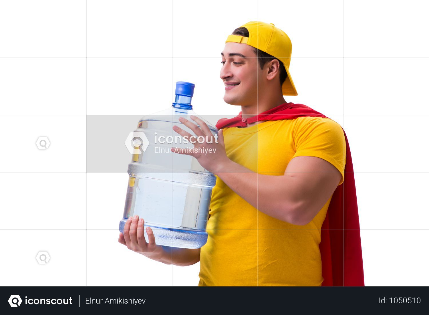 Premium Man Delivering Water Bottle Isolated On White Photo Download In Png Jpg Format Delivery Photos Water Bottle Photo