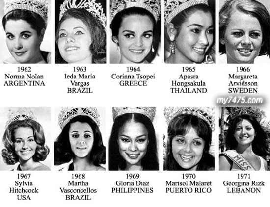 miss universe winners list with pictures - Google Search