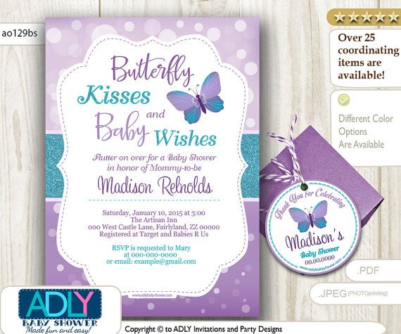 Elephant Baby Showers · Purple Teal ...