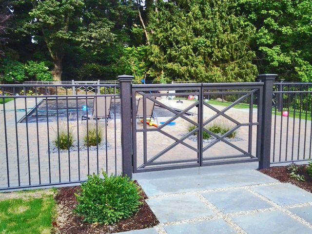 Wrought Iron Pool Fence And Gate Backyard Fences Fence Design
