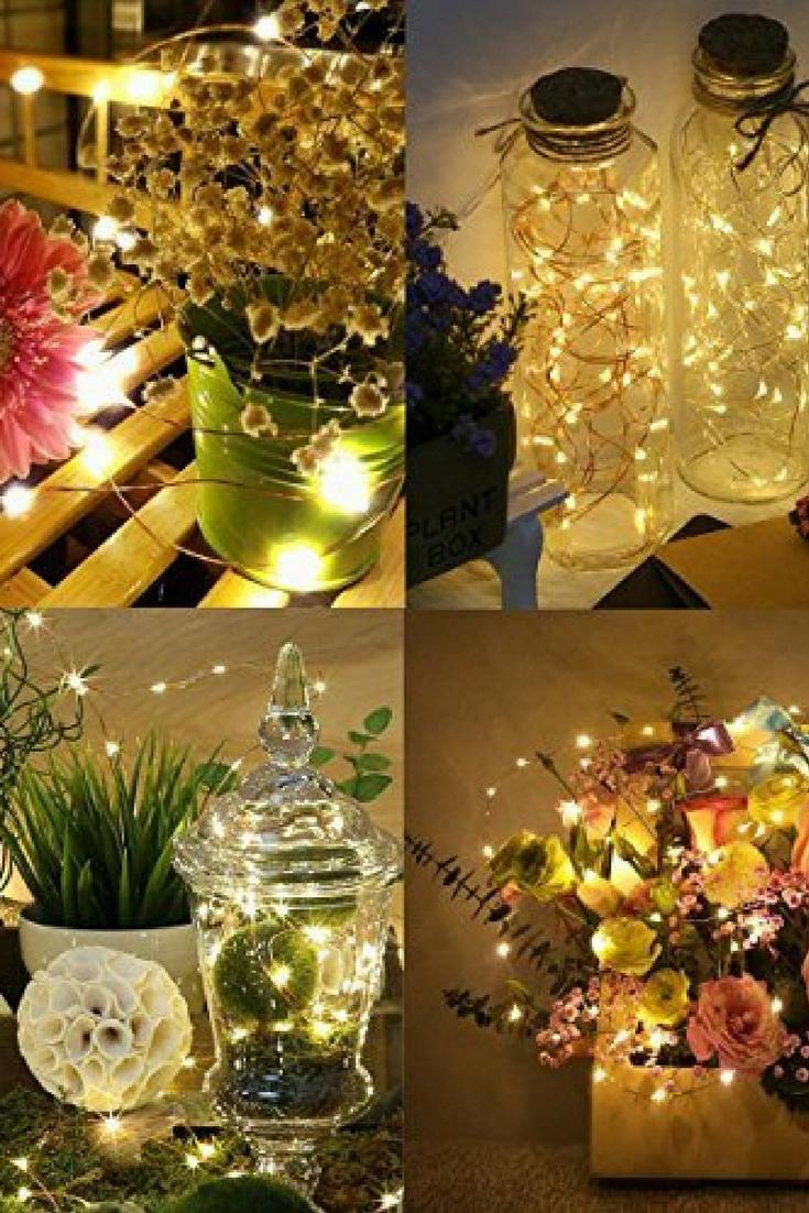 Portable Christmas Lights.Amir Solar Powered String Lights 100 Led Starry Fairy