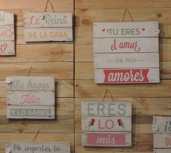 Cartel vintage monica corredera cuadros decorativos - Letreros en madera ...