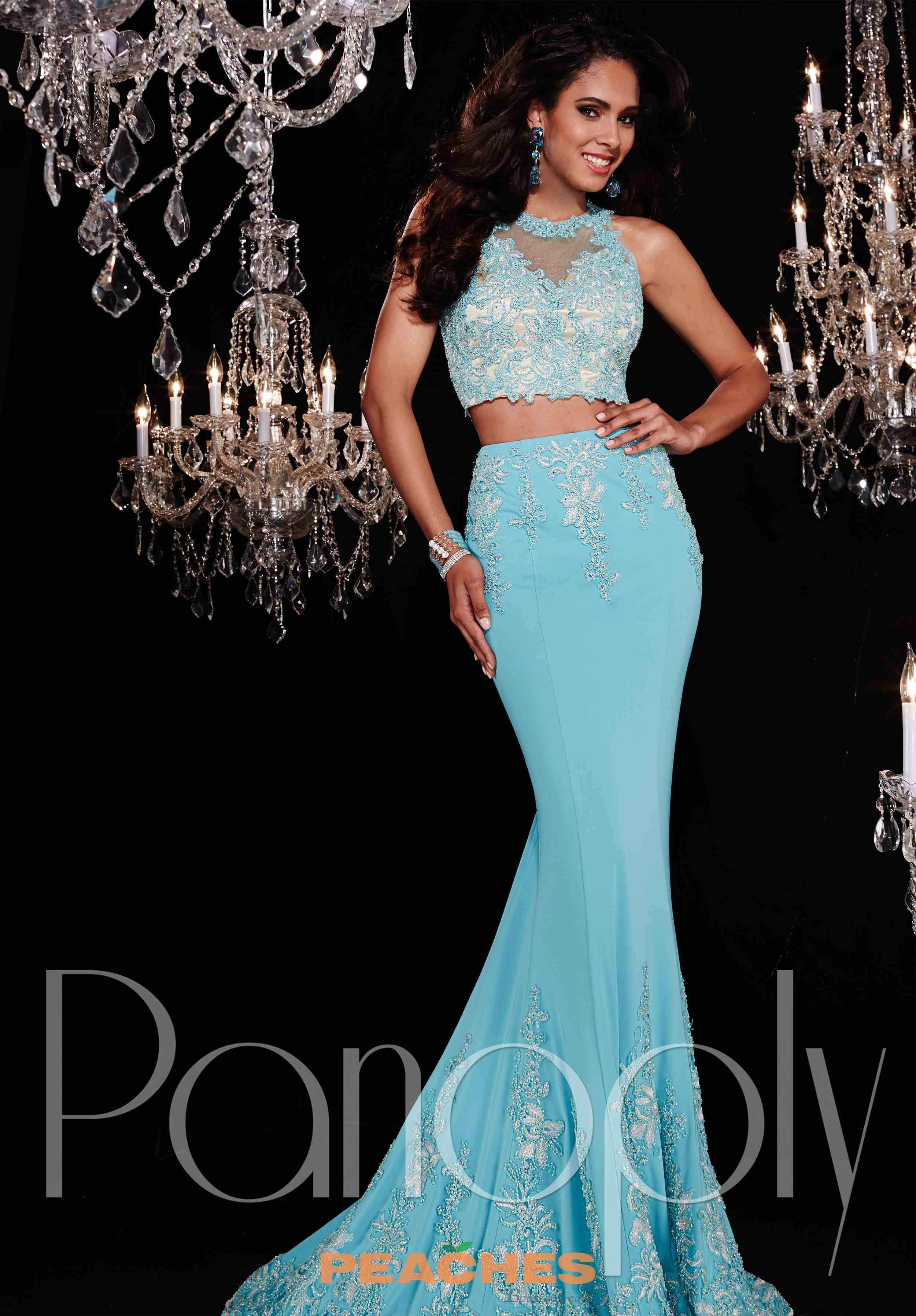 Aqua Silver Prom Dresses