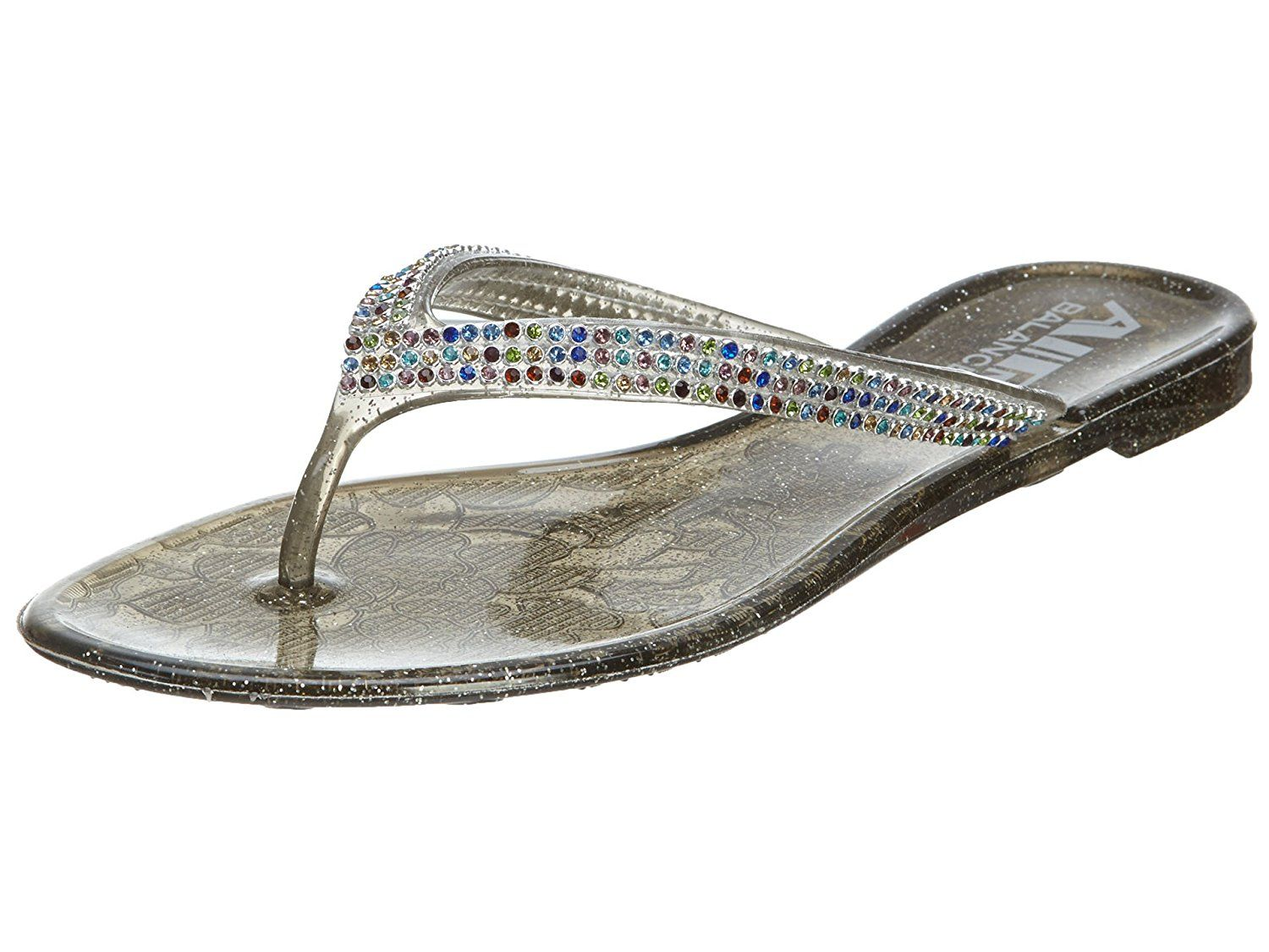 617cde99401e Air Balance V-thong Stones Jelly Sandals Womens Style - Abs412 Womens    Learn more by visiting the image link.