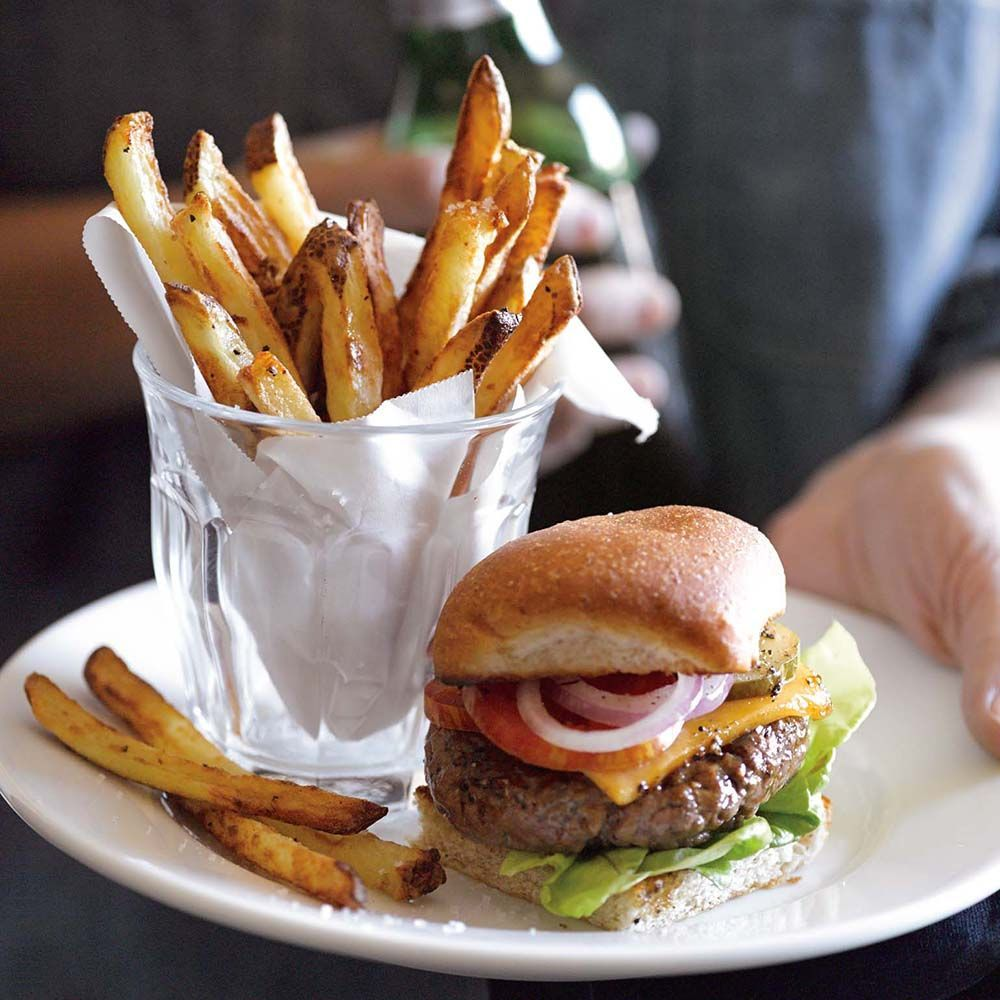 GrassFed Beef Sliders with AirFried French Fries