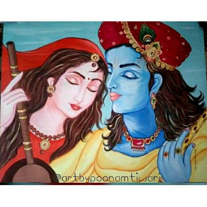 #artbypoonamtiwari #painting_by_poonamtiwari #like #share #comment  #watercolor #painting #radha #krishna