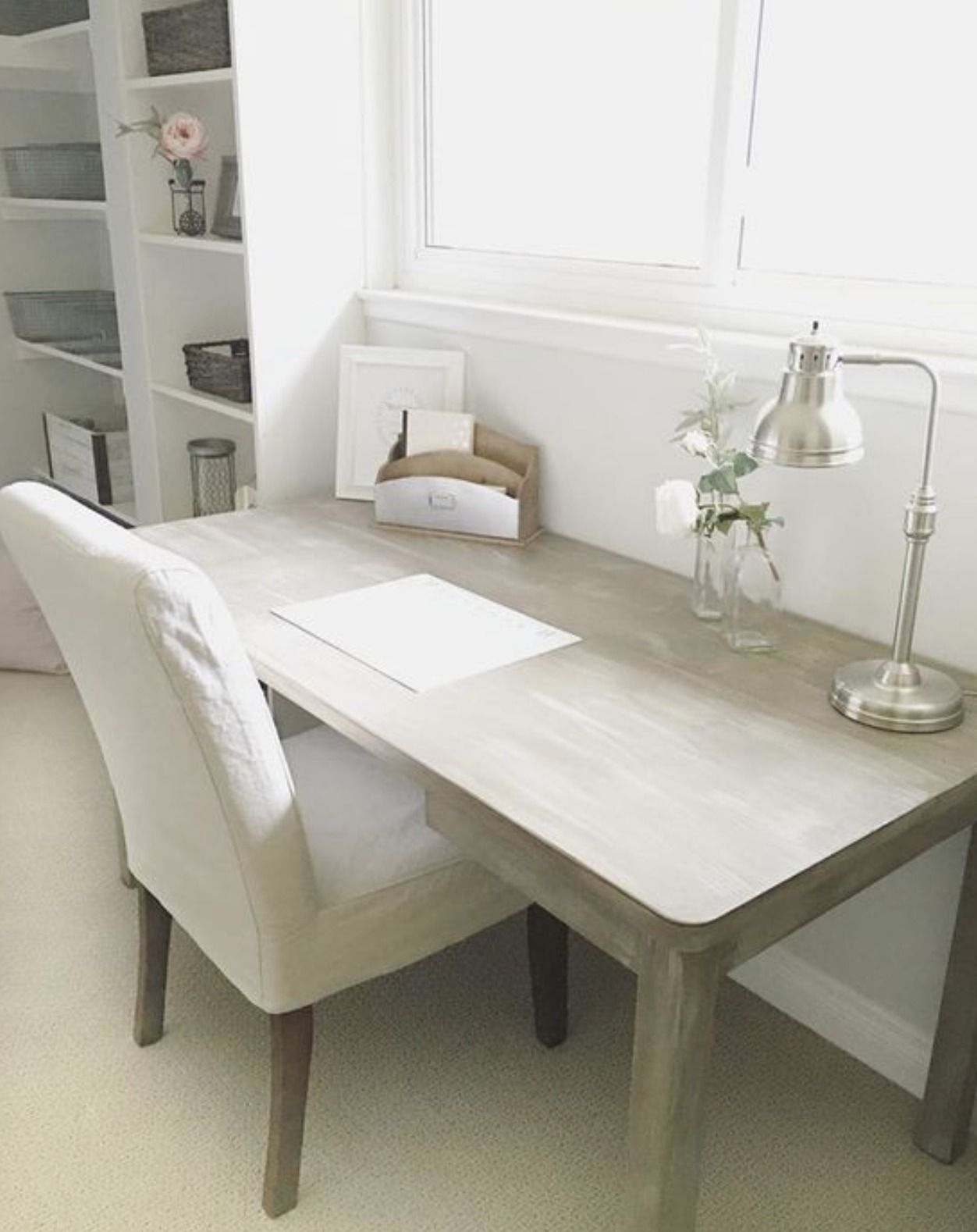 Old Rusted Table Was Transformed Into A Beautiful Office Desk With Chalk Paint Decorative