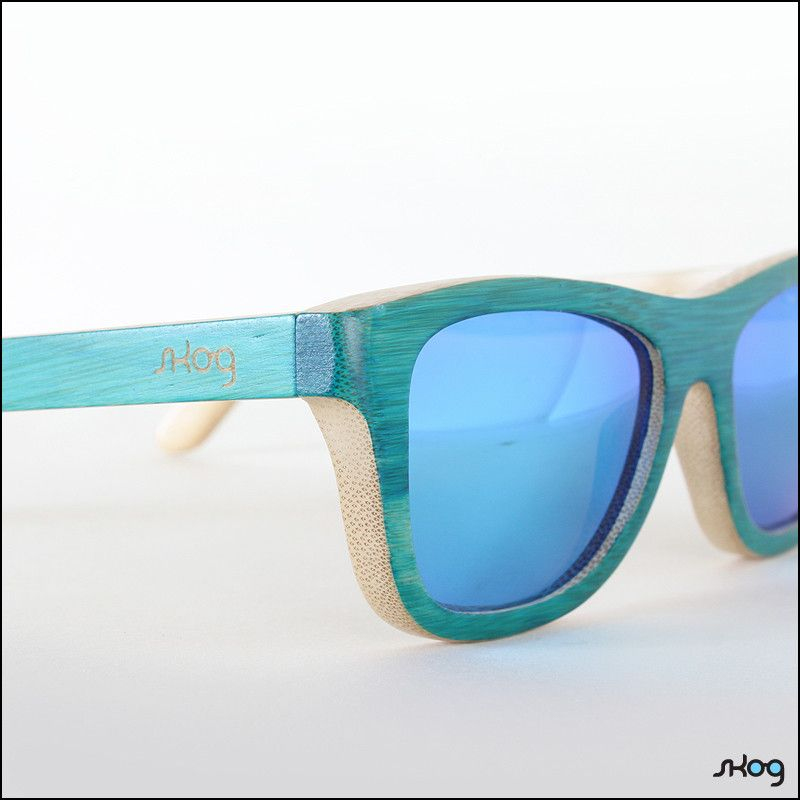 SKOG Eyewear wood sunglasses: Teahupoo blue