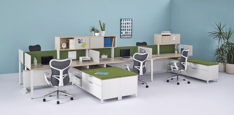 Herman Miller Canvas Dock Workspace Pantone Greenery