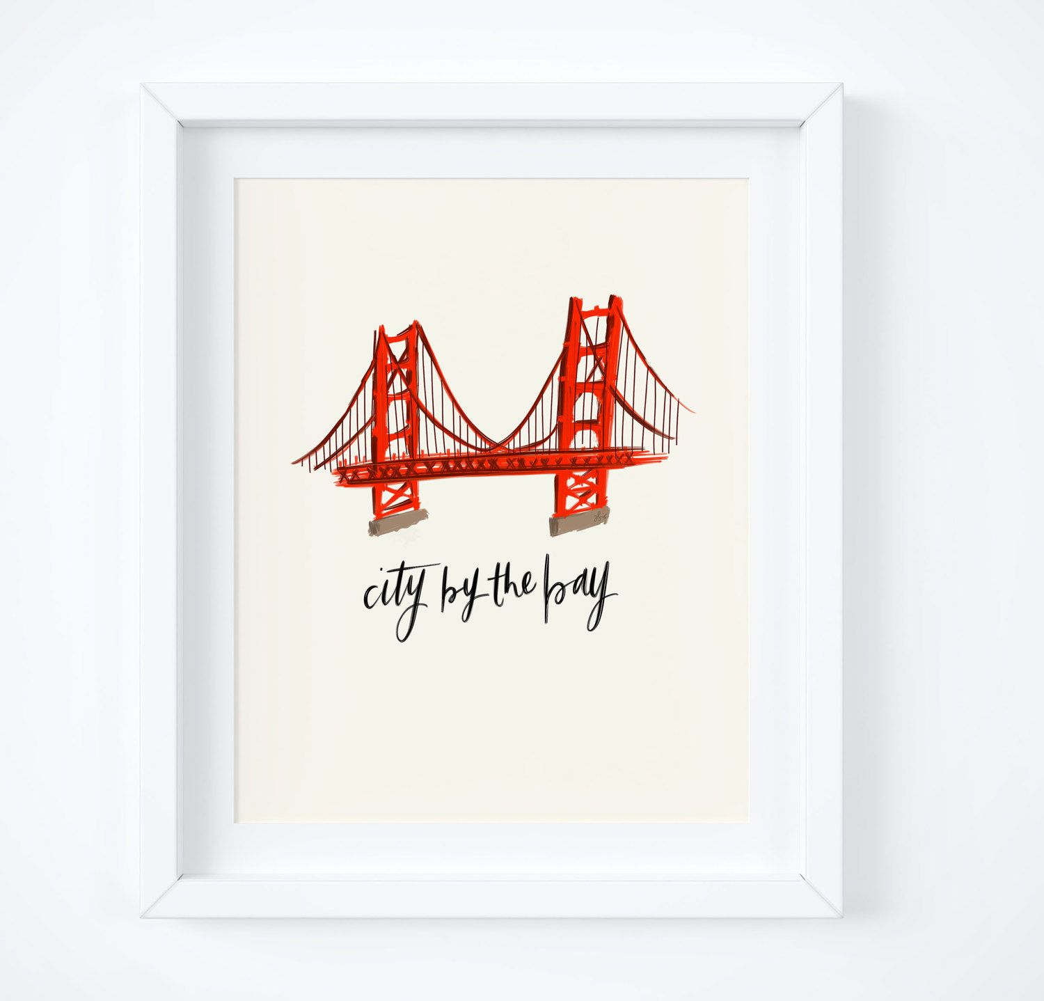 Golden Gate Bridge, City By The Bay, San Francisco Wall