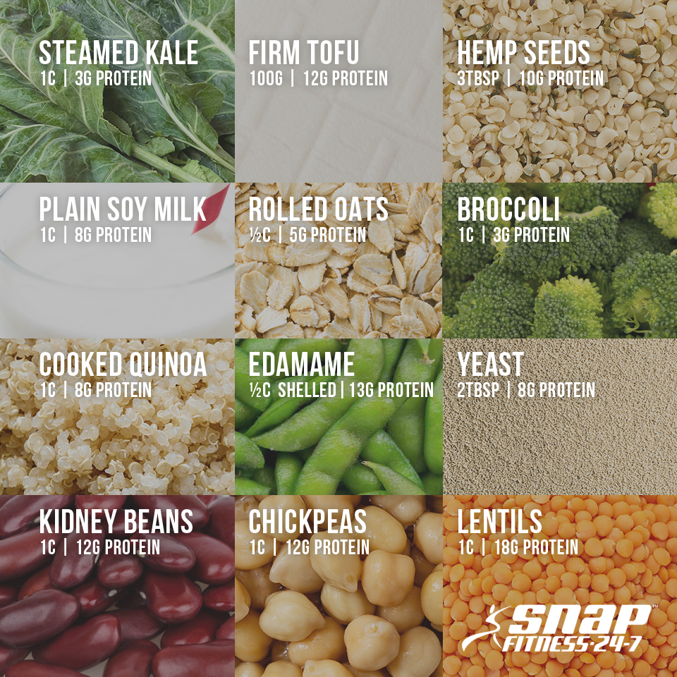 Protein can be found in many foods, including plants! Check out these great plant-based protein sources. Add some to your next salad or favorite dish for an extra dose of protein.