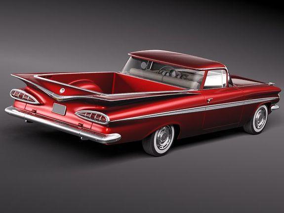 1959 Chevy El Camino  Chevrolet El Camino 1959 3D Model  crafts