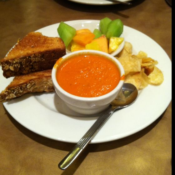 Nordstrom Café's kids grilled cheese meal. Missing you most of all.