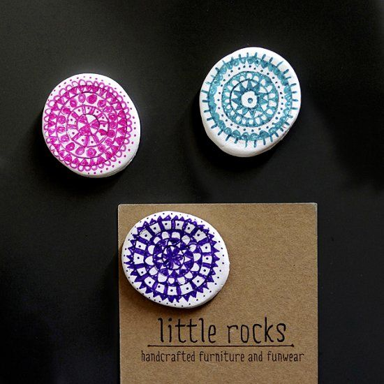 The cutest little mandala magnets! (photos tutorial in Greek)