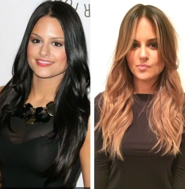Amazing transformation on Pia Toscano. Lighter hair for summer ...