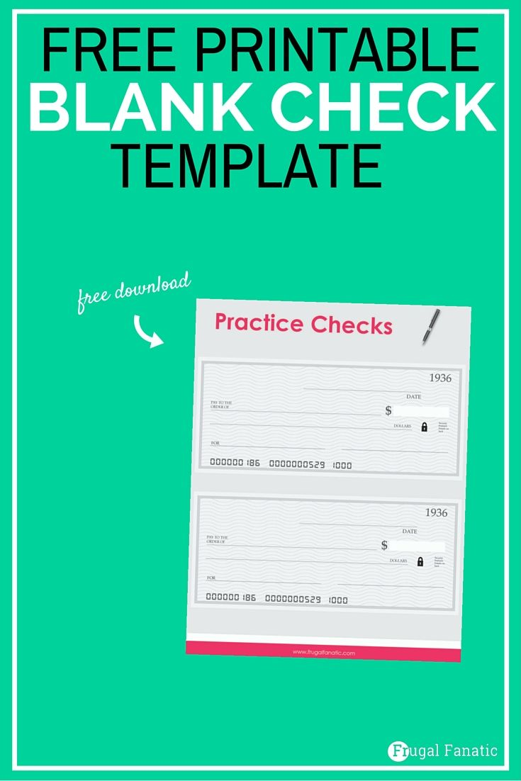 blank check template teaching teens how to manage money the group board on pinterest. Black Bedroom Furniture Sets. Home Design Ideas