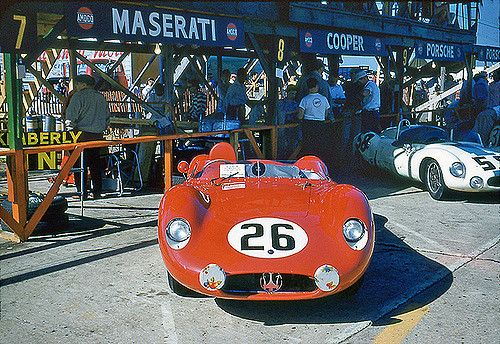Jim Kimberly and Ted Boynton drove this Maserati 200SI in the 1957 12-Hours of Sebring.