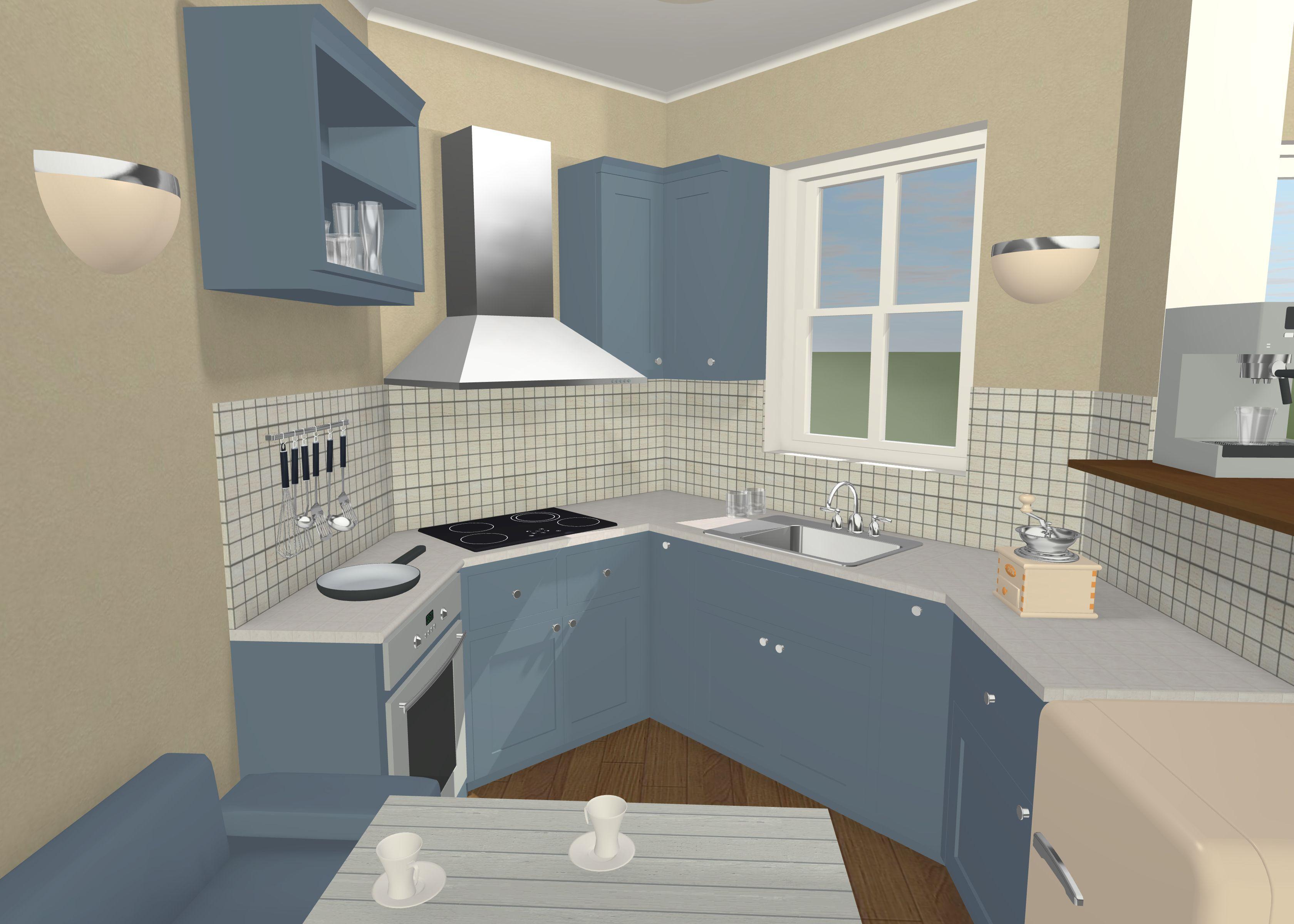 Modern Blue Kitchen Interior Design Software Home Design