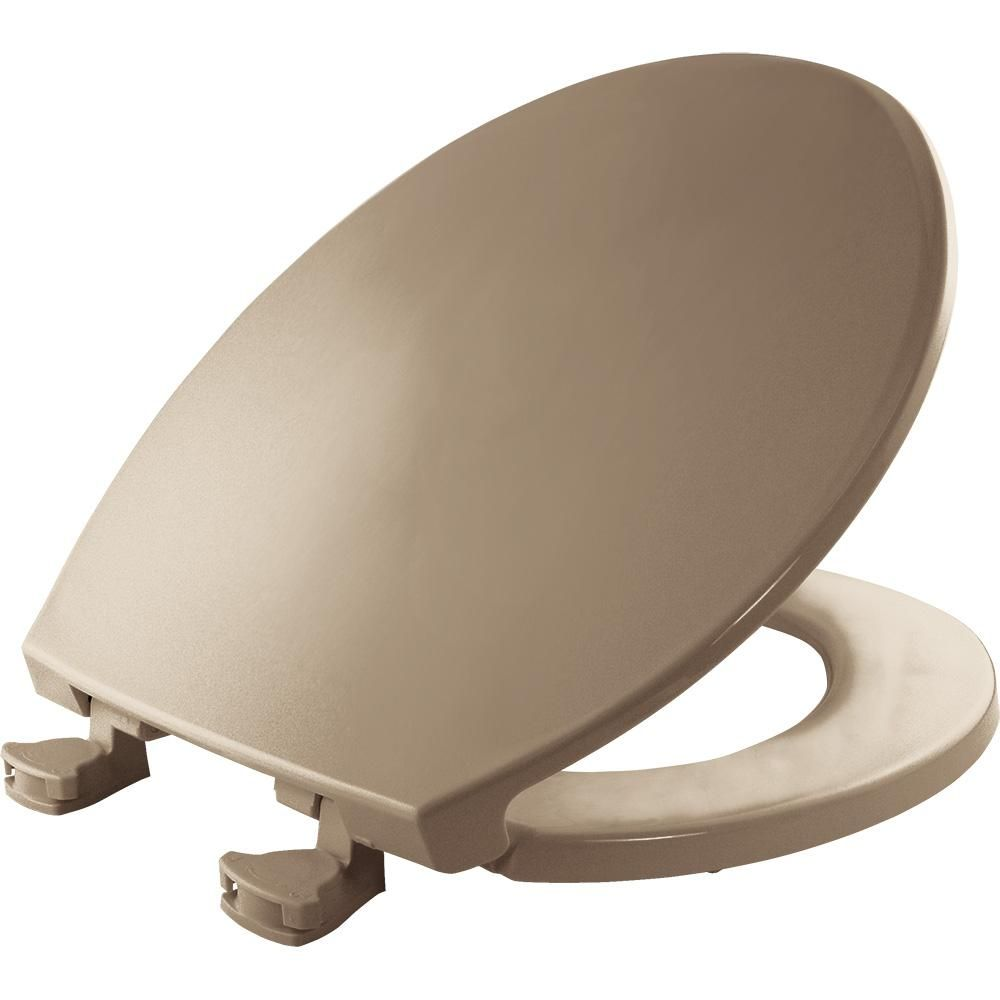 Bemis Lift Off Round Closed Front Toilet Seat In Bone Ivory