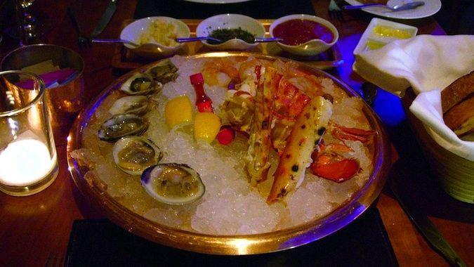 A Circular Seafood Platter At American Fish Great Restaurants