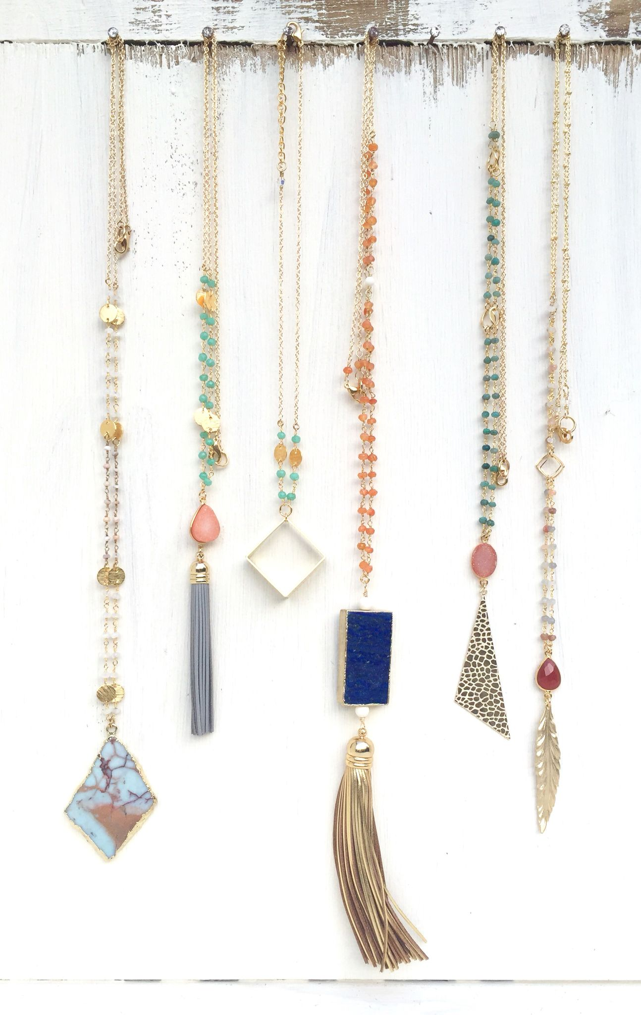 Long Statement Necklaces. Fun Layering Necklaces. Spring ...