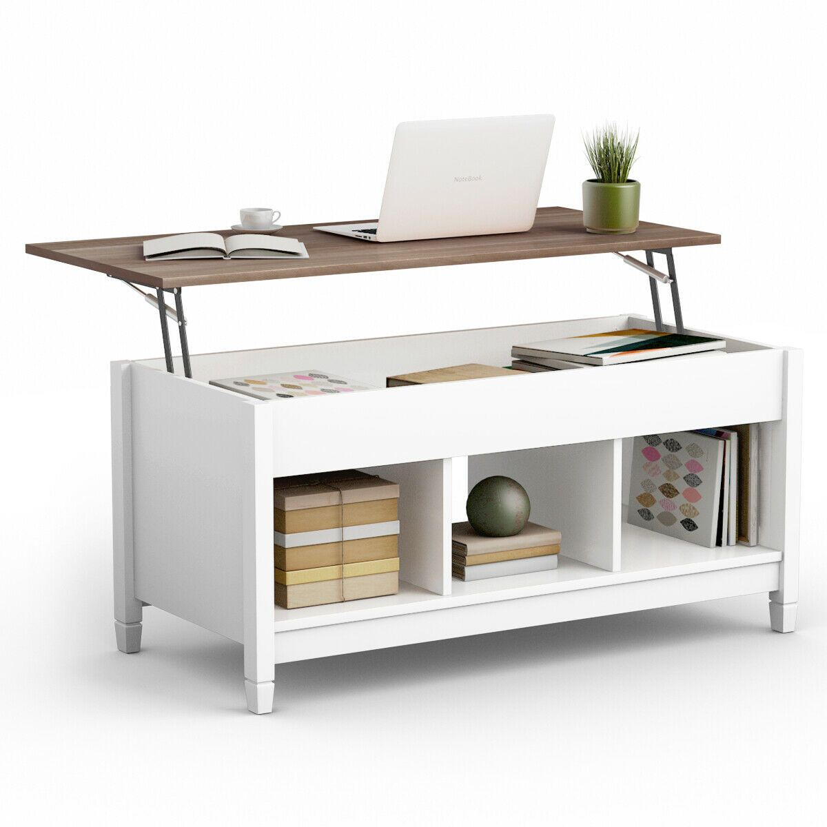 Lift Top Coffee Table With Hidden Storage Compartment Coffee Table With Hidden Storage Coffee Table Small Space Wood Lift Top Coffee Table [ 1200 x 1200 Pixel ]