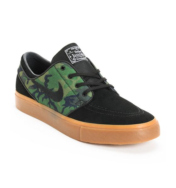 NIKE Nike SB Zoom Stefan Janoski Jungle Camo & Black Shoe at Zumiez : PDP |