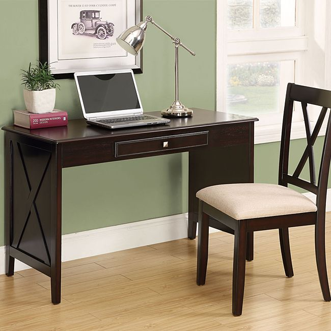 This Contemporary Desk Provides Everything You Need For A Small Home Office The Desk And Chair Desks For Small Spaces Desk And Chair Set Home Office Furniture