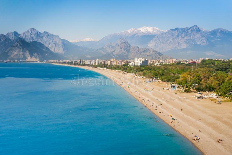People at Konyaalti beach in Antalya Turkey