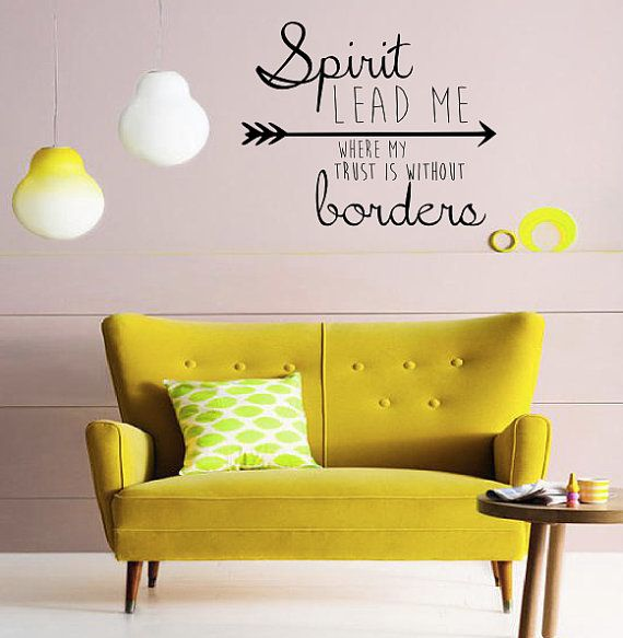 Spirit Lead Me Wall Decal Home Decor Gift Idea by TipitDesigns ...