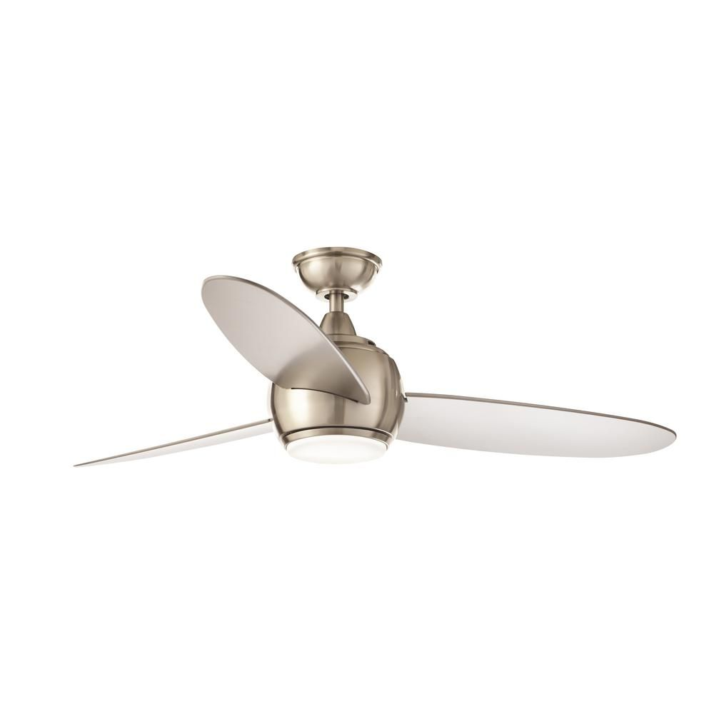 aed652286d3 Home Decorators Collection Hedley 54 in. Integrated LED Indoor Brushed  Nickel Ceiling Fan with Light Kit and Remote Control