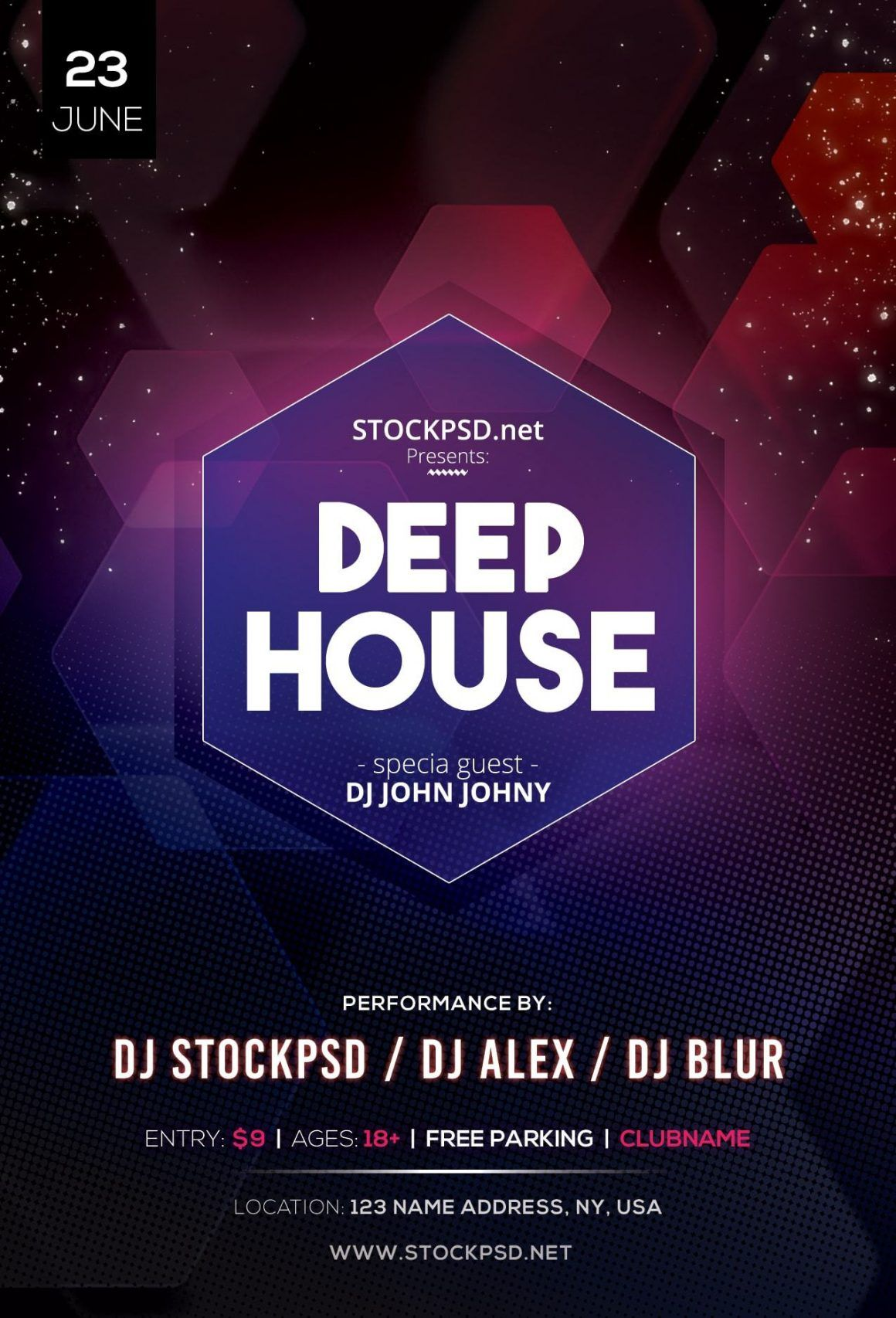 Deep House Music Posters