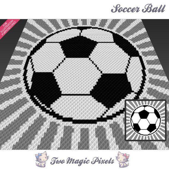 d81342a8a48 Soccer Ball crochet blanket pattern  c2c