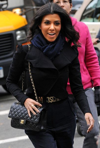 0db7d0eeb7b4 Kourtney Kardashian's Chanel Quilted Leather Bag | Fashion: Purses ...