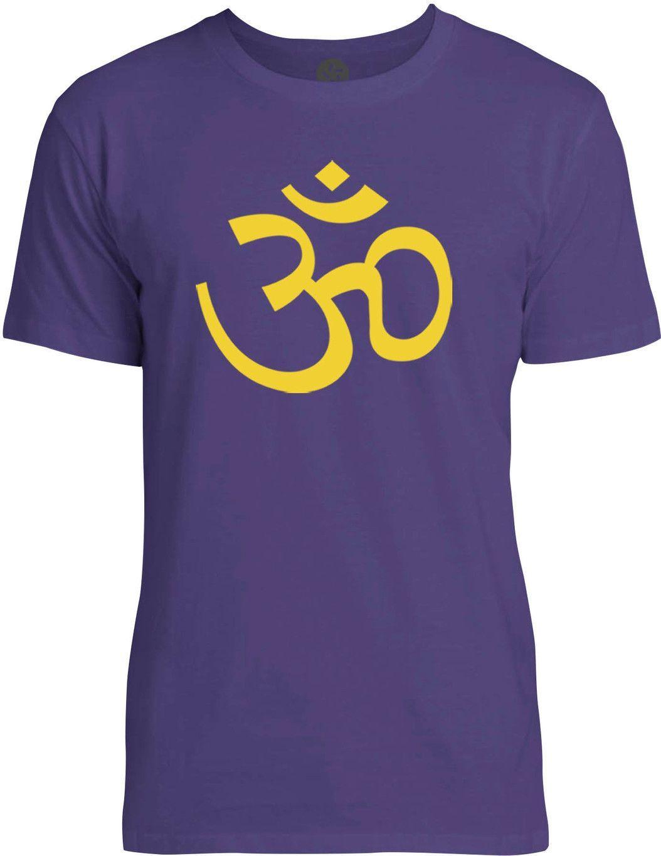 Golden Om Symbol (Yellow) Mens Fine Jersey T-Shirt