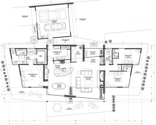 Organic Mountain Modern Floor Plan Evstudio Architect Engineer Contemporary House Free The Site