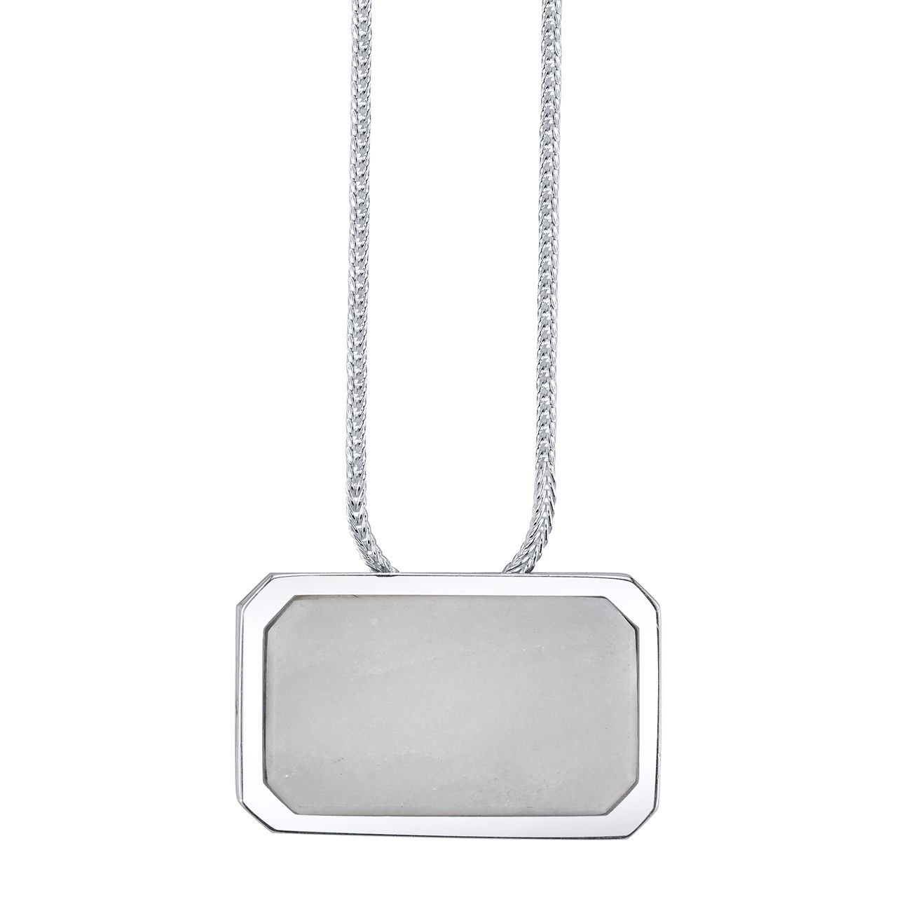 Gabriela Artigas Online Store - White Carrara Marbel Plate Pendnat on Sterling Silver Chain, $350.00 (http://www.gabrielaartigas.com/white-carrara-marbel-plate-pendnat-on-sterling-silver-chain/)