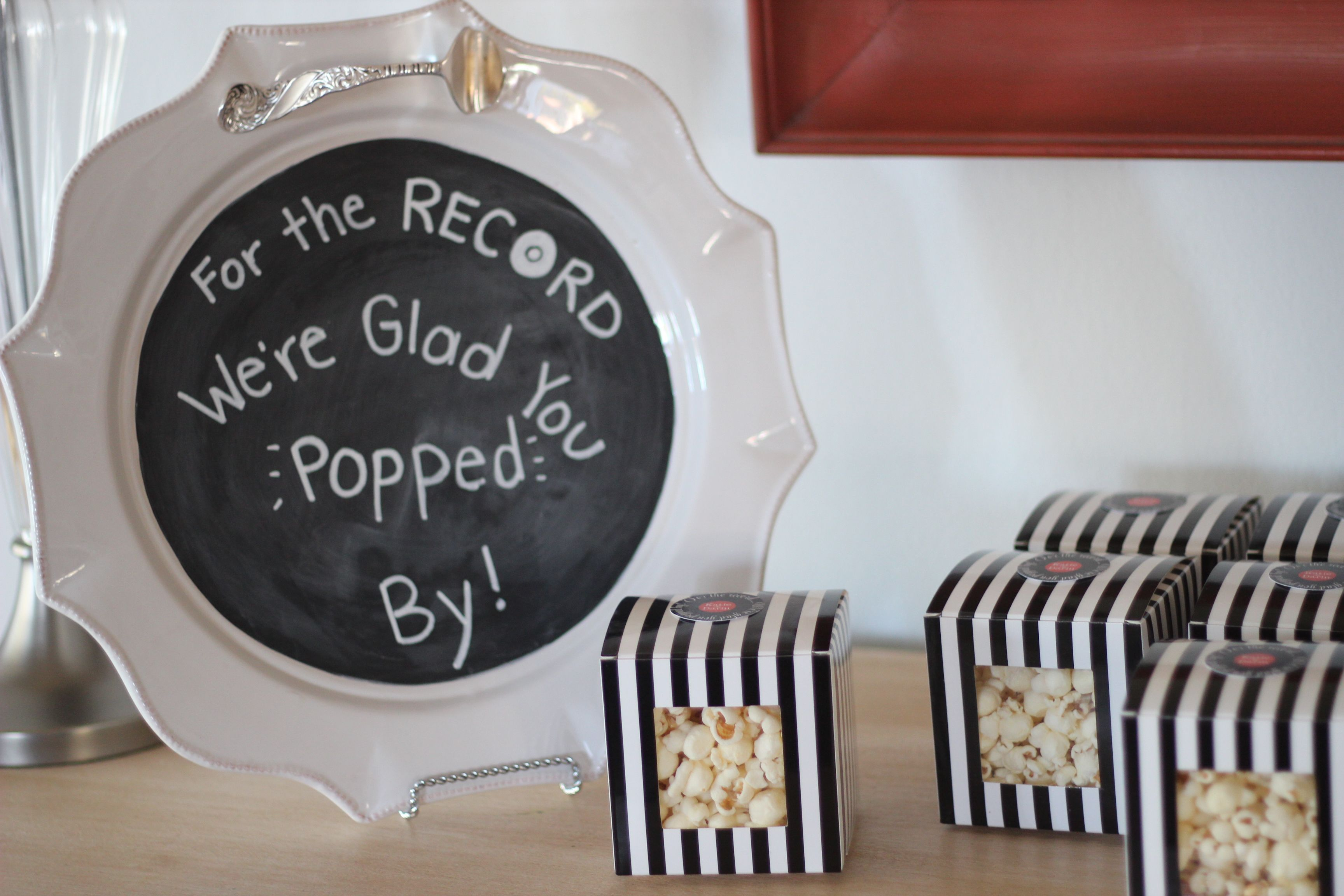 we heart parties record music themed couples bridal shower