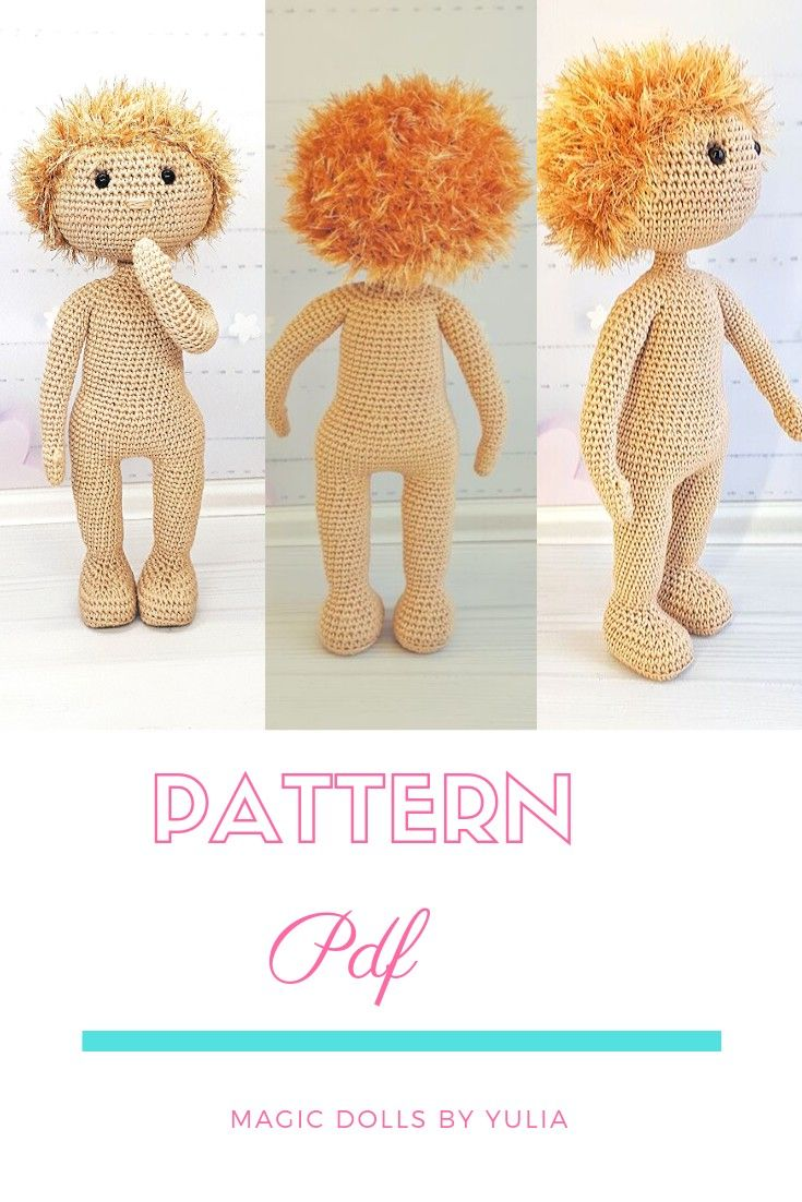 pattern crochet doll, pattern handmade doll #dollcare