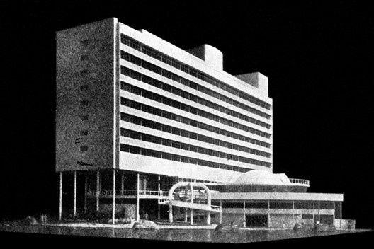 Maquete do Hotel da Bahia Foto divulgação [Revista Arquitetura e Engenharia n. 17, mar./abr. 1951]
